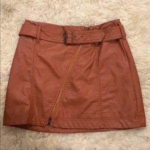 Cute Faux Leather Mini Skirt NWOT
